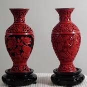 雕漆花瓶一对-MPH1703