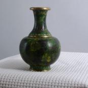 我收的景泰蓝MCH-1609-清掐丝珐琅花瓶