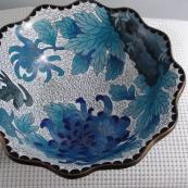 我收的景泰蓝MCH-1618-掐丝珐琅花口碗