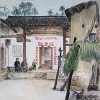 父亲在韶山体验生活时,画了不少速写和主席的画像。