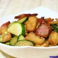 豆干咸肉炒小瓜