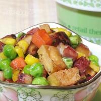 豆干火腿蔬菜粒