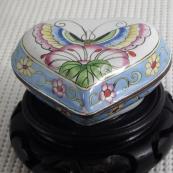 我收的景泰蓝MCH-1613-画珐琅首饰盒