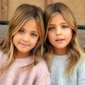 """这对2010年出生的姐妹 已成""""世界最美双胞胎"""""""