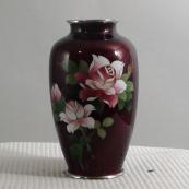 我收的景泰蓝MCH1634-日本七宝烧花瓶