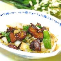 大葱咸菜炒叉烧