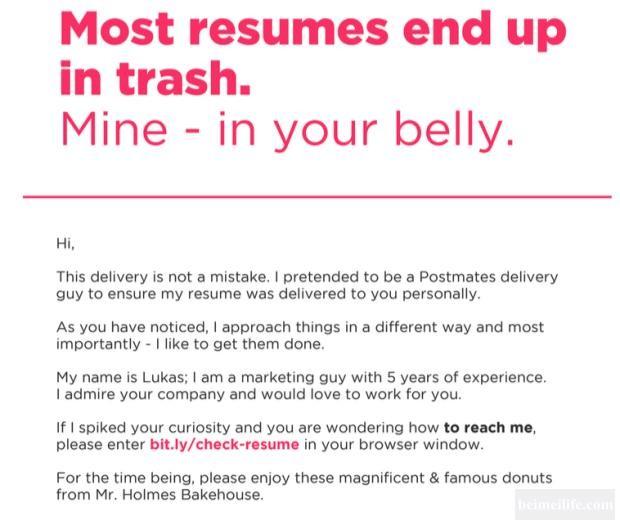 外国小哥创意求职,假扮快递员送错甜甜圈给公司高层,效果不错呦