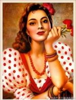 墨西哥绘画:让美丽的姑娘们花朵一样绽放吧