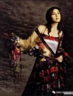 中国油画:画布上的那个美女 居然有些像你