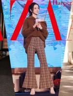 这个冬天比牛仔裤更好搭的竟然是格纹裤,没想到!  大K 时尚芭莎