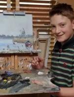 他才11岁时,已靠画画成为了千万富豪