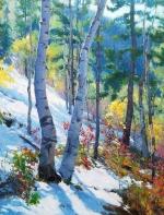 他的作品色彩和质感极富印象主义风格