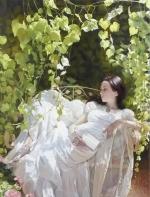 俄罗斯绘画:风情如水    以及她在阳光下的低眉