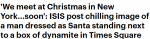 """""""圣诞节我们纽约见"""",ISIS发布""""血洗圣诞""""海报!这些地方的留学生注意了! ..."""