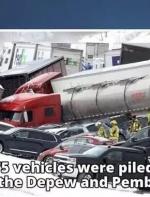75辆汽车连环撞1人死亡! 纽约州高速公路关闭 重大交通事故... ...