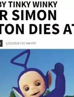 直到他不幸离世,人们才发现,原来天线宝宝里面居然是真人在演的… ...