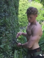 这在日本当园艺师的瑞典小哥...颜值和身材比花花草草好看多了啊 ...