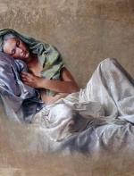 法国美女画家的色粉画竟然这么漂亮