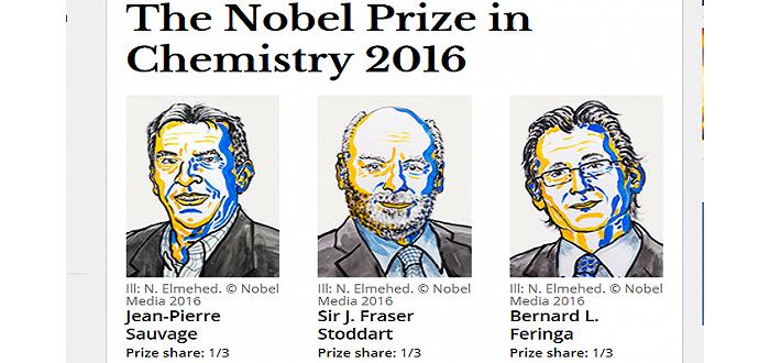 2016诺贝尔化学奖揭晓 法美荷科学家因设计及合成分子机器获奖 ... ... ...